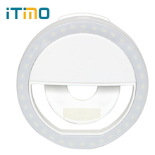 USB Rechargeable 36 Leds Novelty Cell Phone Camera Ring Selfie Fill LED Flash Fill Light For iPhone IOS Android Smartphone