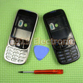 White New Full Complete Mobile Phone Housing Cover Case+Enlish Or Russian Keypad For Nokia 6303 6303c + Tools+Tracking