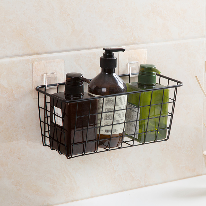 2018 iron wall mounted storage baskets bathroom saving ...