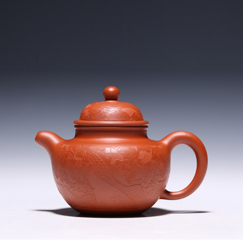 240 ML Yixing patrón Vintage auténtica tetera de arcilla púrpura todos los filtros hechos a mano Zisha tetera de té negro Raw mineral dhongpao olla regalo