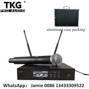 Image 1 - มืออาชีพเวทีเสียงประสิทธิภาพระบบคาราโอเกะ QLXD4 ไมโครโฟนไร้สาย UHF True Diversity SingleHandheld ไมโครโฟน