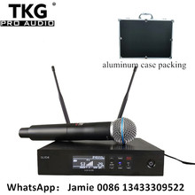 professional stage sound system performance karaoke QLXD4 UHF Wireless Microphone True Diversity SingleHandheld Microphone