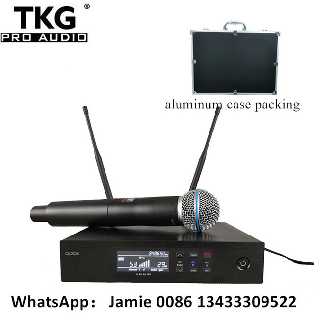 professional stage sound system performance karaoke QLXD4 UHF Wireless Microphone True Diversity SingleHandheld Microphone