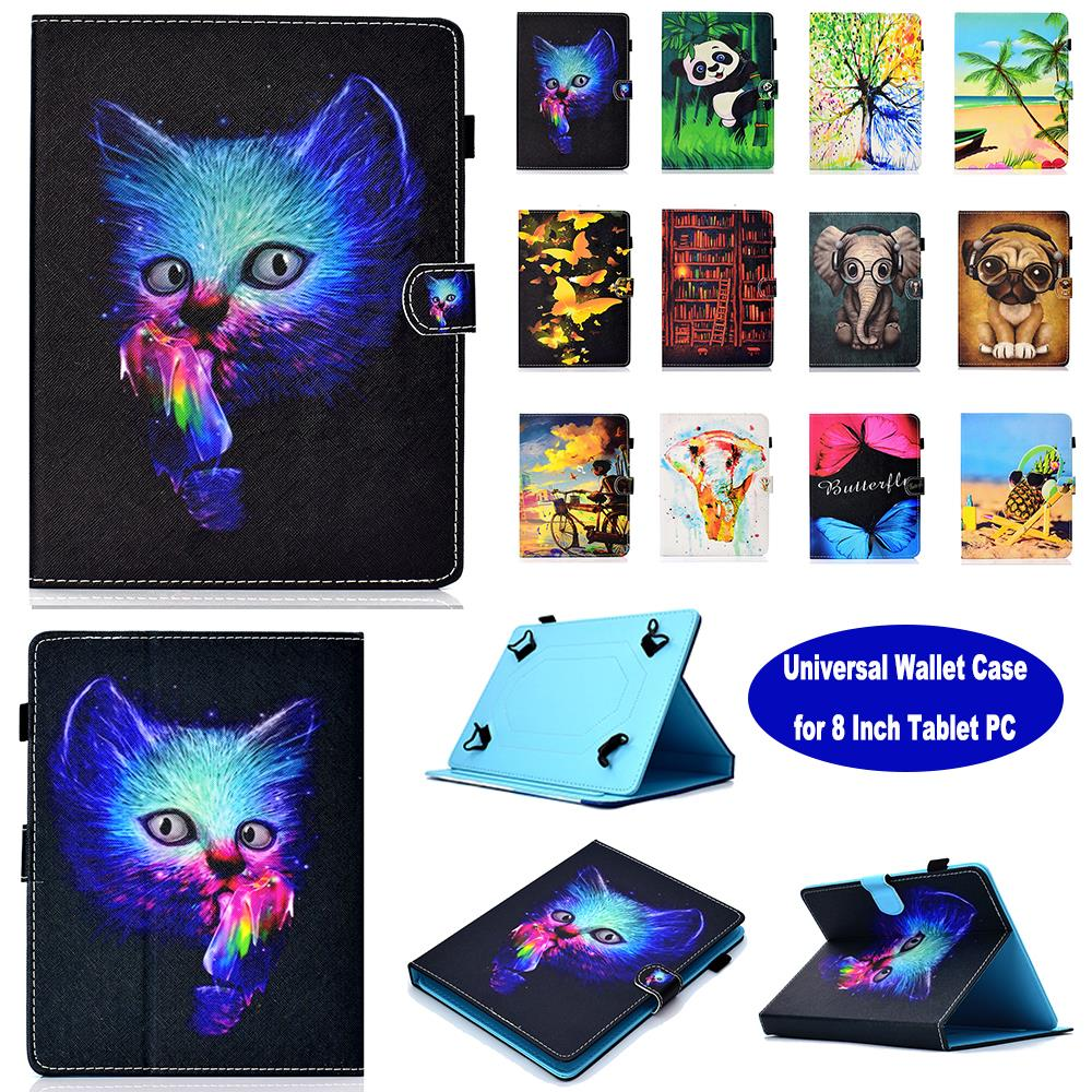 Universal Wallet Case for 8 Inch Tablet case Cover Protective Stand for Touchscr