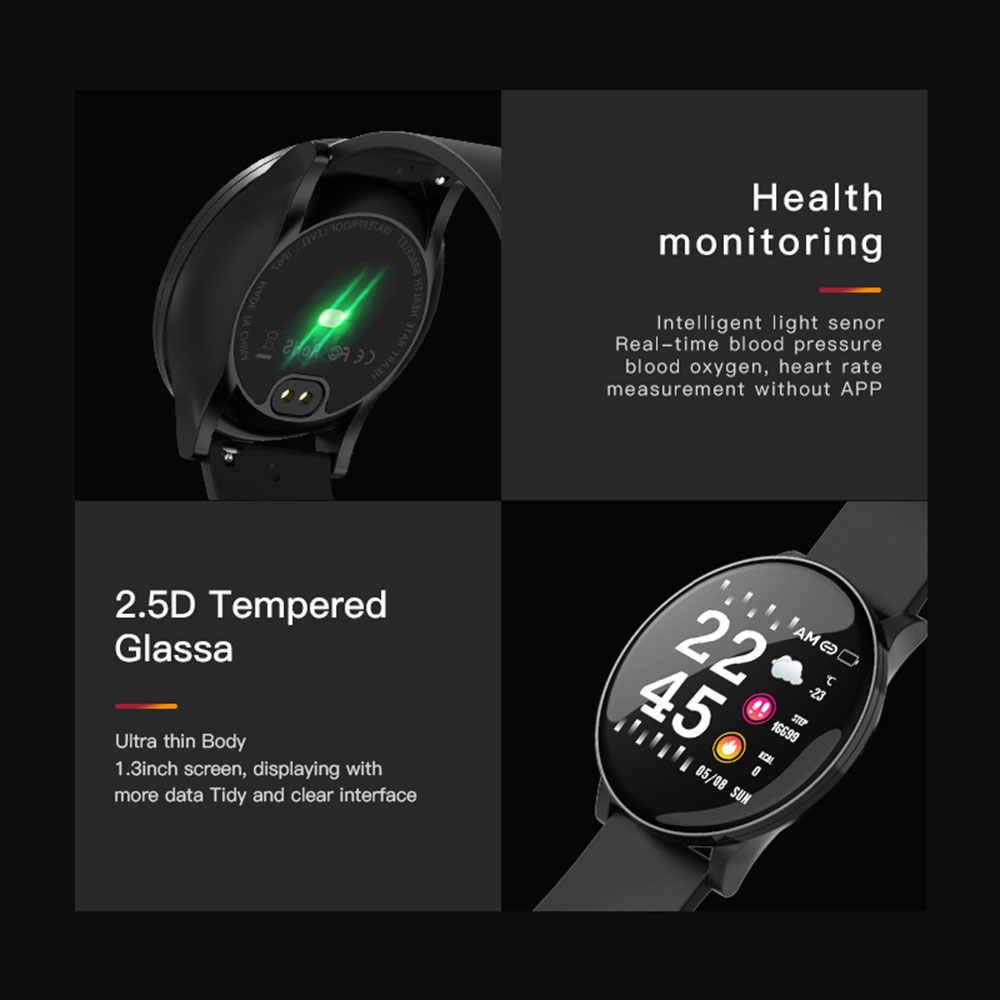 スマート腕時計メンズ · レディースのタッチ画面血圧心拍数スマートウォッチ女性防水時計スポーツアンドロイド Ios Xiaomi 2019