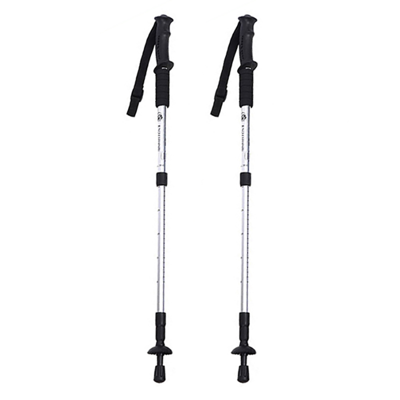2pcs/lot Nordic Walking Sticks Telescopic Trekking Hiking Poles Anti Shock Walking Canes With Rubber Tips Hiking Equipment