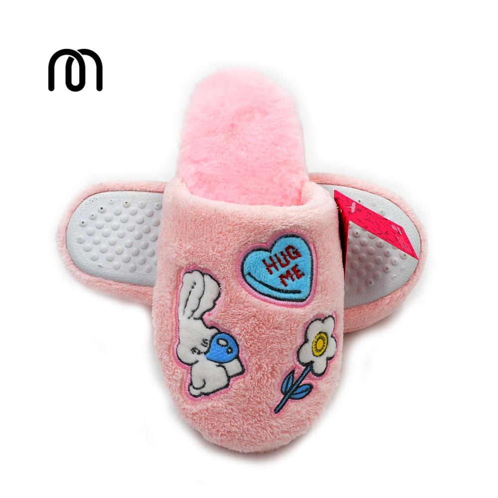 Millffy pink lovely rabbit bunny hug me girl soft and fluffy slippers bedroom home shoes slippers baile pink bunny эрекционное кольцо с вибрацией