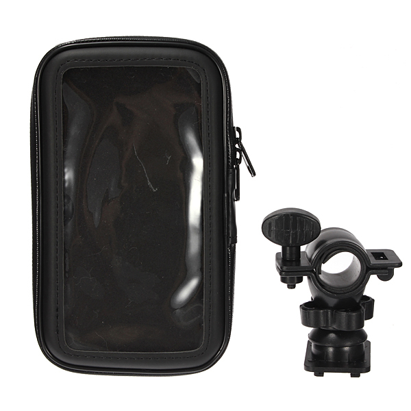 Universal Waterproof Bike Bicycle Motorcycle Handlebar Mount Mobile Phone Holder Case Cover For 5.5 inch Cell Phone GPS