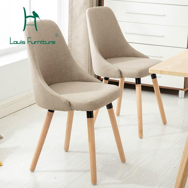 Louis Fashion Chair Negotiation Solid Wood Minimalist Modern Backrest Creative Coffee Leisure Scandinavian Office