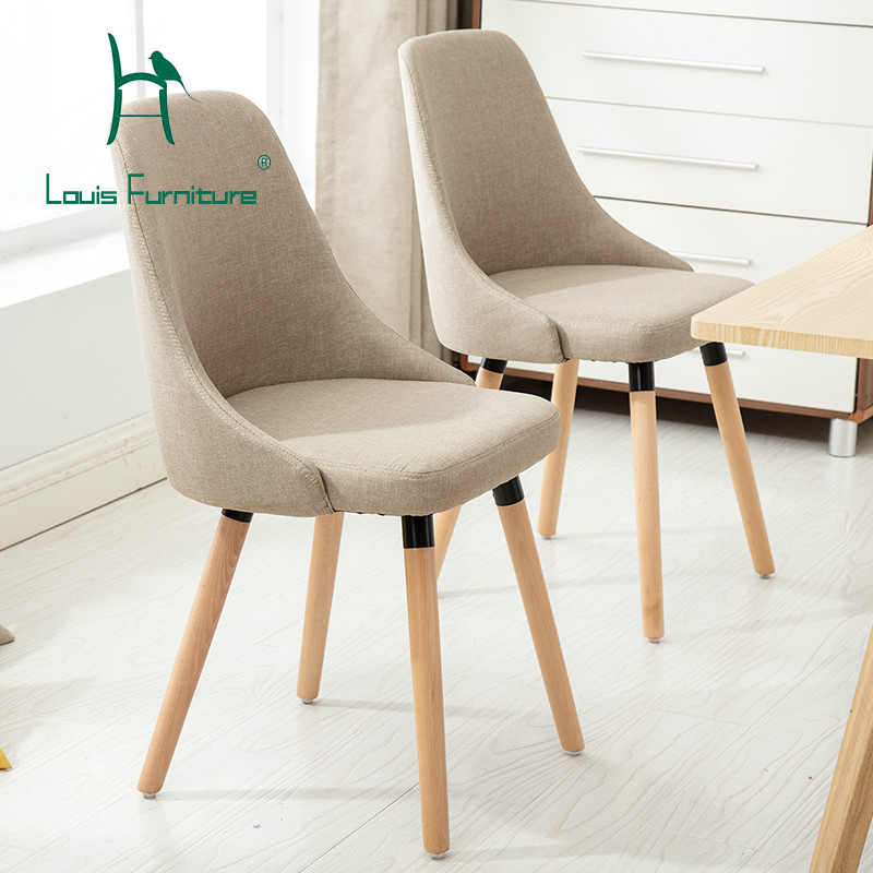 Louis Fashion Chair Negotiation Solid Wood Minimalist Modern Backrest Creative Coffee Leisure Scandinavian Office
