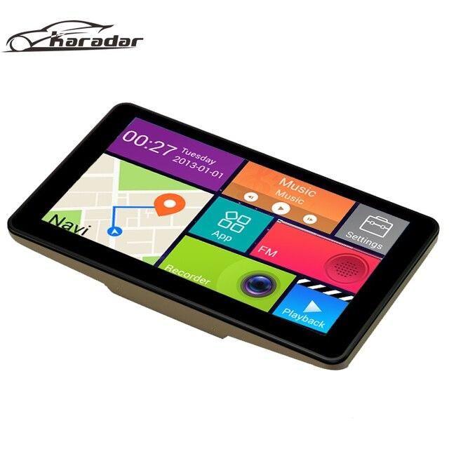 7 inch 1080P Car GPS Navigation Android FM + BT AV-IN Truck GPS Navigation GPS DVR Recorder