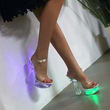 High Shoes All'ingrosso Led Light Acquista A Heel Galleria Basso j5A34RL