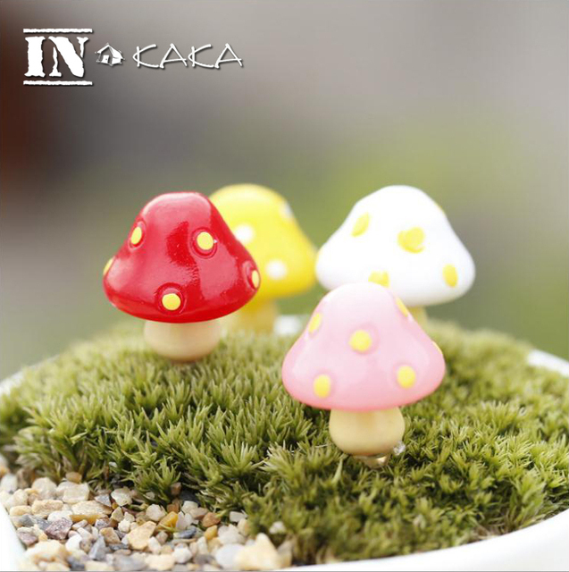 Cute Animal Mushroom Home Micro Fairy Garden Figurines Kawaii  Miniatures/terrarium Doll House Decor Ornaments