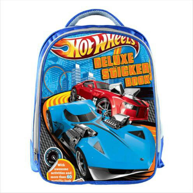 Hot Wheels Blue School Bags For Teenagers Cartoon Cars 13inch 3D Printing Boys Girls Children Kids School Bag
