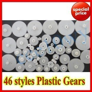 ! Sample Order 46 styles Plastic Gears All The Module 0.5 Free shipping
