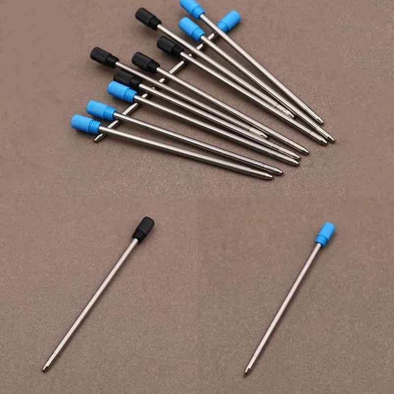 ปากกาโลหะ Refill สำหรับคริสตัลเพชรปากกาลูกลื่นนักเรียน Rod ตลับหมึกสีดำสีฟ้า 7 ซม.ความยาวสแตนเลสสตีลเติมเงิน
