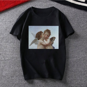 Fashion Black T-shirt Angel Top South Side Serpents Print Casual Pulp Fiction Graphic Tee Shirt Women Funny Van Gogh Tshirt 2019