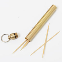 Outdoor Pure Titanium Waterproof Toothpick Multi-function Fruitpick Holder Case Reusable Recyclable Outdoor Travel Kits(China)