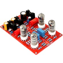 YJ0067 6N3 Four Tube Preamplifier aiyima 6n3 tube preamplifier board refer to mathis circuit