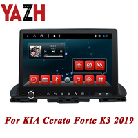 YAZH Android 8.1 autoradio 2GB 32GB car central multimedia For KIA Cerato Forte K3 2019 Head Unit Player 1080*600 display radio