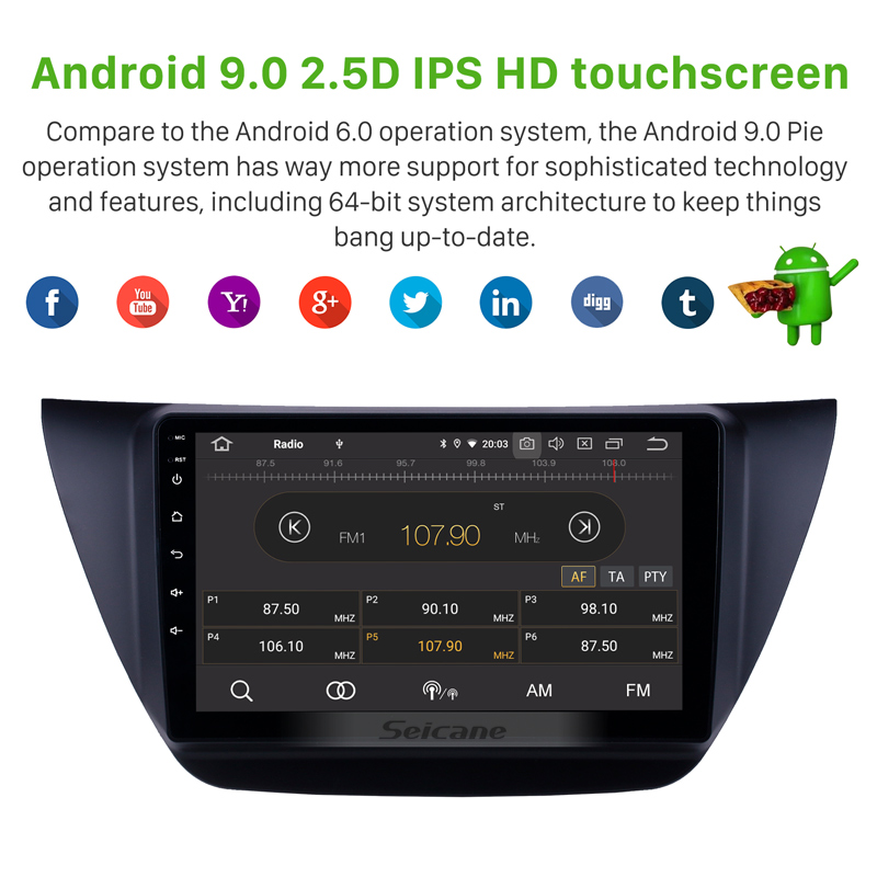 Image 3 - Seicane 9 inch Android 10.0 Car Multimedia player GPS for MITSUBISHI LANCER IX 2006 2007 2010 with WIFI Carplay Bluetooth USBCar Multimedia Player   -