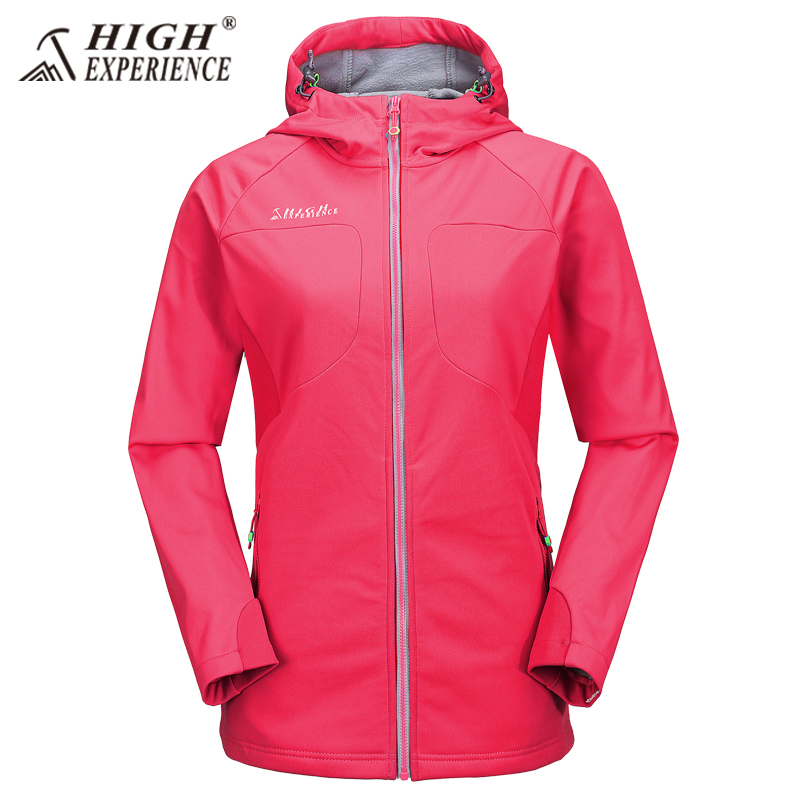 New High Experience Brand Women Outdoor Hiking Jacket Waterproof Outdoor Female Fleece Jacket Lightweight Windbreaker 2017 new brand fleece softshell jacket women outdoor climbing hiking sport jacket women windbreaker thermal waterproof jacket