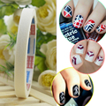 A Estrenar 12 Unids Manicura Nail Art Tips Wrap Strip Rollo de Cinta Decoración DIY Sticker Stencil