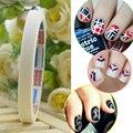 Marca New 12 Pcs Manicure Nail Art Tips Rolo de Fita Envoltório Tira Decoração DIY Adesivo Stencil