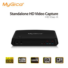 Captura de vídeo hd 1080p inteligente, captura de vídeo hd com entrada de microfone, X-II hd gravador hdmi/ypbpr/cvbs, mygica hd capx