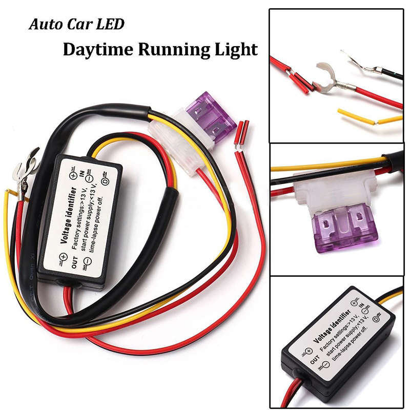 Car Led Daytime Running Light Controller Drl Relay Harness On/off Automatic