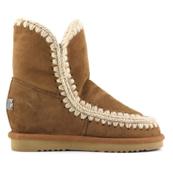 WInter Women mou Snow Boots 100% Sheepskin With fur Genuine leather warm Mujer botas  Increase Wedge Eskimo Boots MOU With box