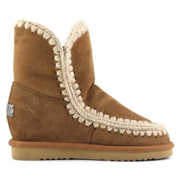 Mou/женские зимние ботинки из овечьей кожи, Коллекция 100% года, теплые ботинки из натуральной кожи на танкетке, Mujer botas, ботинки эскимо с коробко...