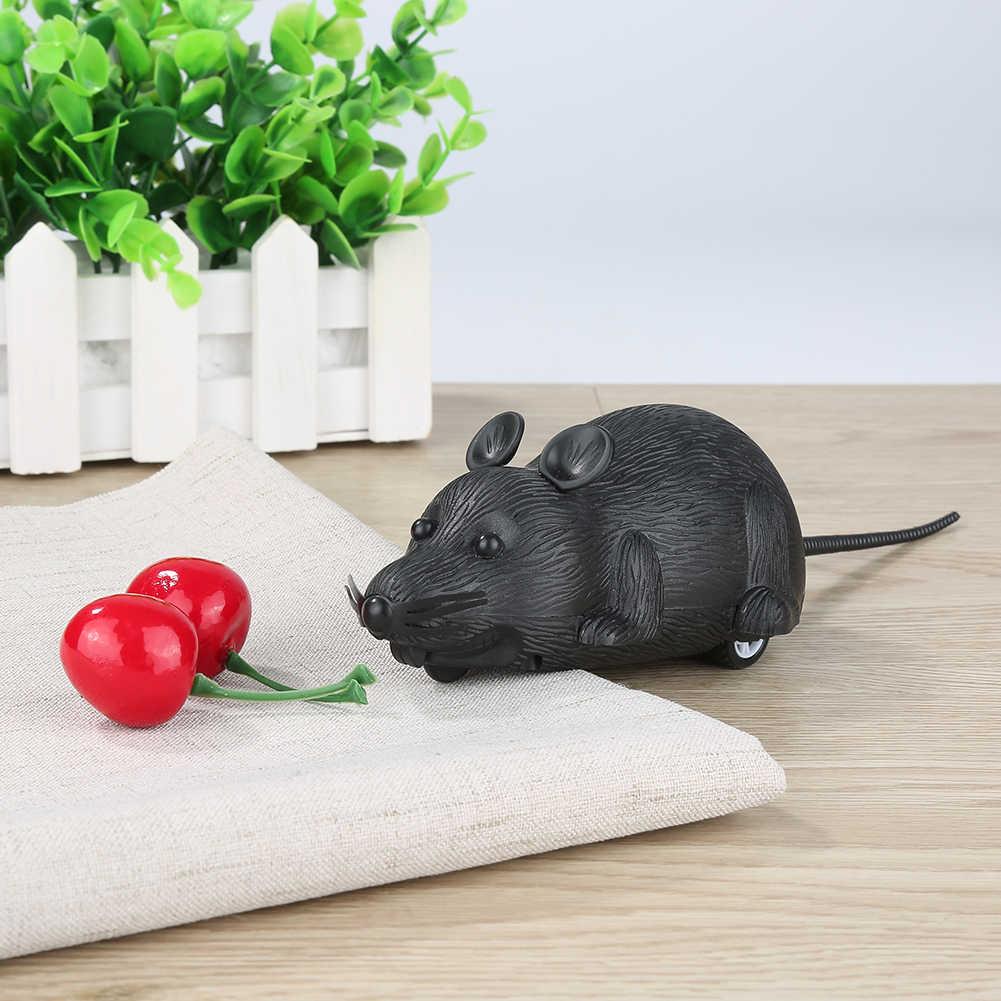 Emulação Do Rato Rato Clockwork Wind Up Toys Little Mini Toy Animal Bebê Crianças Kid Primavera Corrida Brinquedo Brinquedo Do Gato do Gatinho