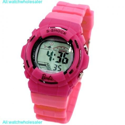 DW209G Magenta Watchcase Alarm BackLight Water Resist Ladies Women Digital Watch