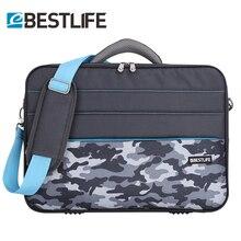 BESTLIFE Camouflage colored handbag Business Laptop Bags Case Shoulder Notebook Tablet Briefcase With Stripe Belt Office