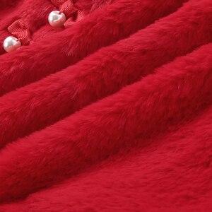 Image 5 - Balabala Bé Gái Lông Thỏ Áo Đầm Voan Chéo Túi Cơ Thể Cho Trẻ Em Max Vải Tiệc Cưới Áo Lót