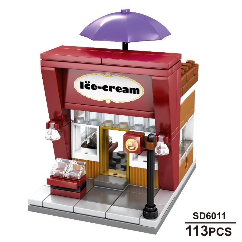 Image 3 - Sembo 601021 Mcdonald Hamburger Fast food restaurant Streetscape Building Blocks Bricks Model toys-in Stacking Blocks from Toys & Hobbies