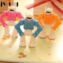 1 pcs JWHCJ novelty Transformers robot rubber eraser creative kawaii stationery school supplies papelaria gift for kids