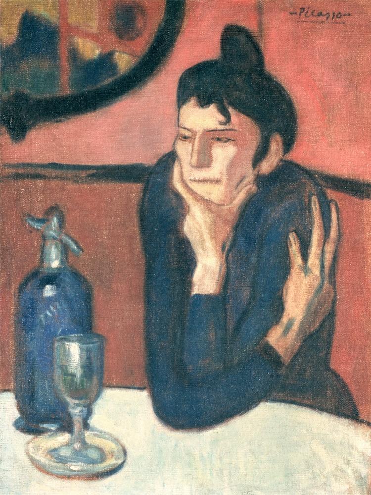 portrétní malba na plátně klasické obrazy mistrovské dílo reprodukce domácí deco art dívka pití Vermut