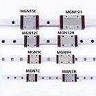 1PCS Linear rail guide Mini MGN7 MGN9 MGN12 MGN15 Linear Block MR7 MR9 MR12 MR15 +1PCS MGN H or MGN C Carriage 3d printer part