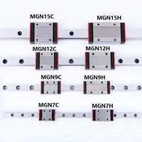 1PCS Linear schiene führen Mini MGN7 MGN9 MGN12 MGN15 Block MR7 MR9 MR12 MR15 + 1PCS Lange Typ oder Standard Wagen 3d drucker teil