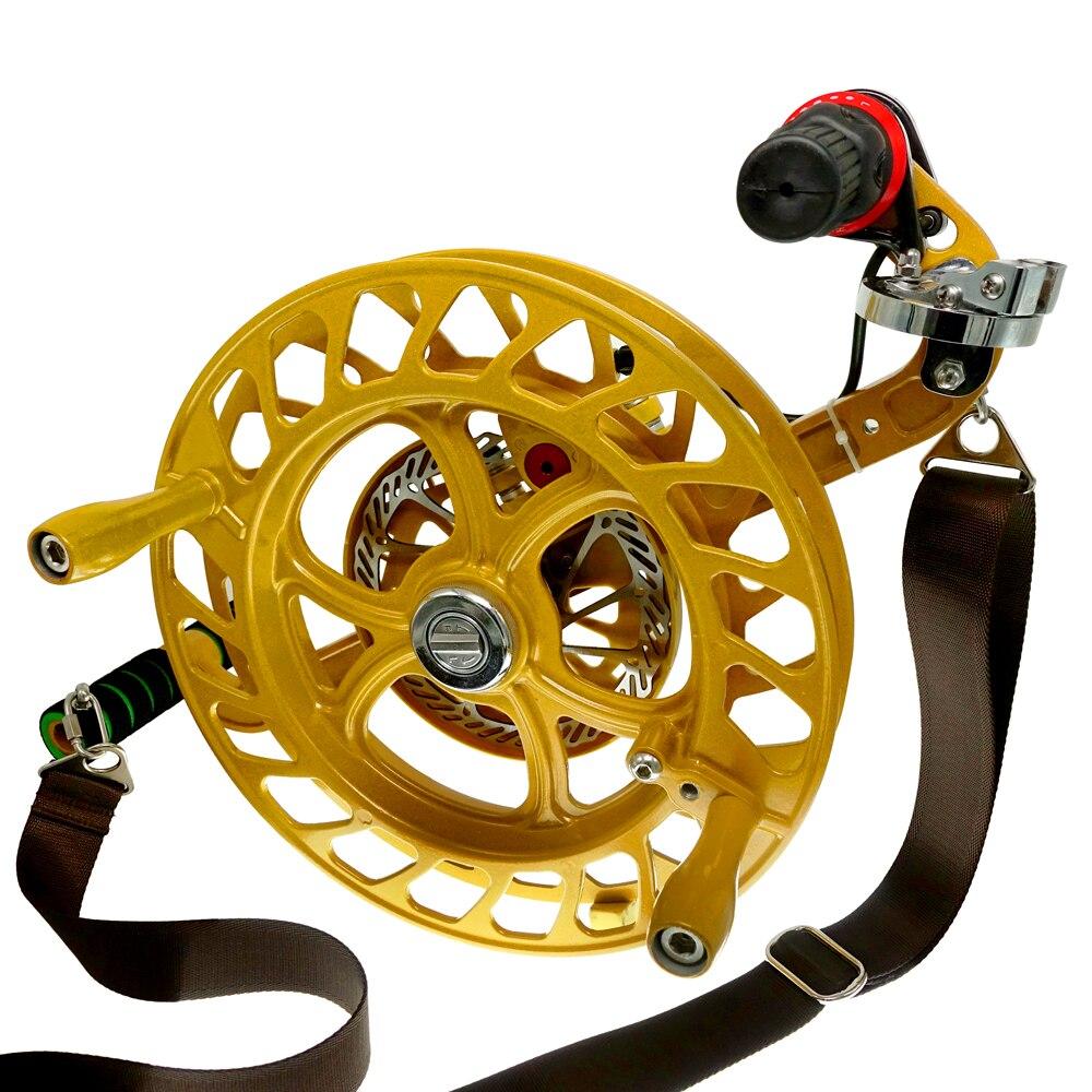 Bobine de cerf-volant 32 cm avec sangle d'épaule de frein à disque 7 rouleaux enrouleur de ligne de cerf-volant pour grand cerf-volant