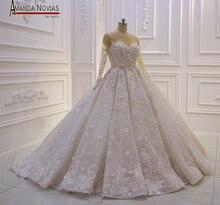 Erstaunliche Neue Modell 2019 Langarm Spitze Brautkleider Amanda Novias