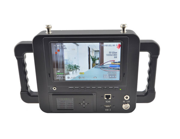 7 Inch COFDM wireless receiver HD LCD Monitor Video Receiver Sun Shade for transmitter transmission system