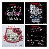 Hello Kitty Iron On Hot Fix Rhinestone Transfer Motif Diamante Crystal  Rhinestone T-Shirt Transfer 97b908440650