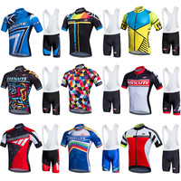 9 Items Short Cycling Clothes Pro Team Cycling Clothing Man Summer 2019 Full Set Polyester Mens Cycling Tricot Bike Wear Set