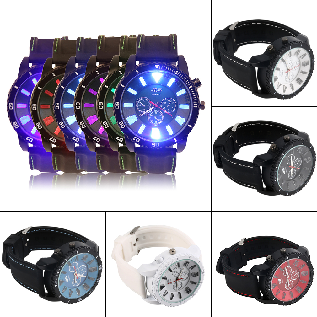 Luminous Quartz Watch Fashion Pointer With Silicone Strap Waterproof Sports Hot Selling gts 1004 waterproof male japan quartz watch silicone strap