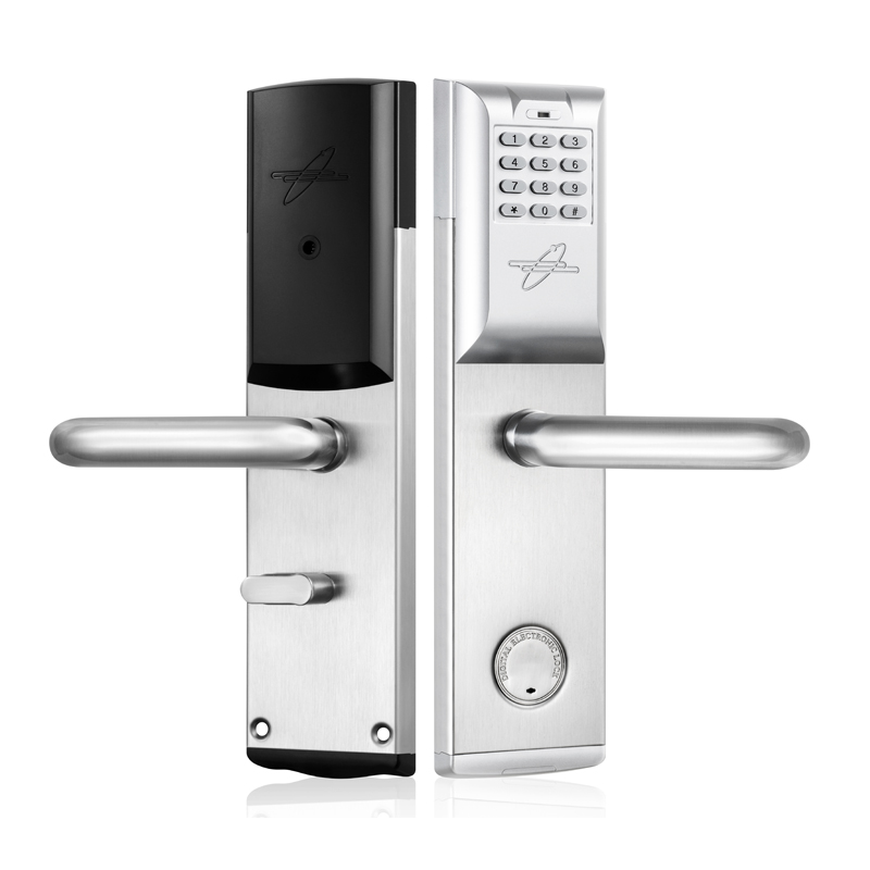 Password Electronic Door Lock Code, RF Card, Mechanical Key Intelligent Digital Keyless Lock Satin Nickel lk803BS