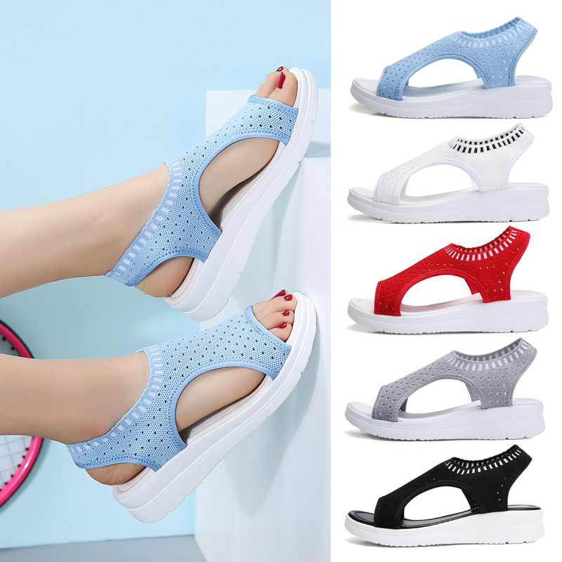 Disenge Shoes Woman Summer Platform Comfort Breathable New-Fashion Ladies Slip-On