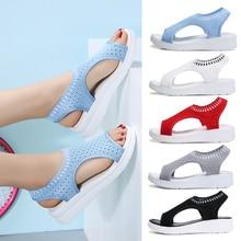 Disenge Women Sandals 2019 New Fashion Shoes Woman Breathable Comfort Walking Shoes Ladies Summer Platform Slip-on Women Shoes